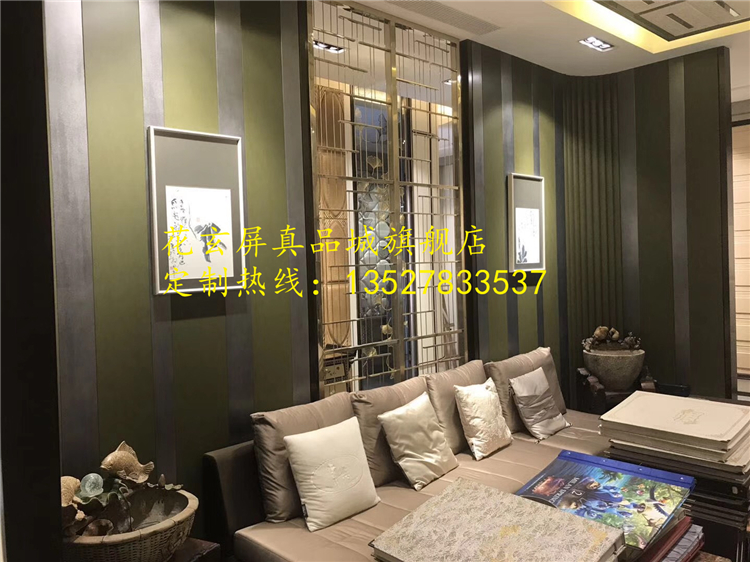 New Chinese model, stainless steel screen partition, hotel club, stainless steel screen, aluminum sculpture screen customization