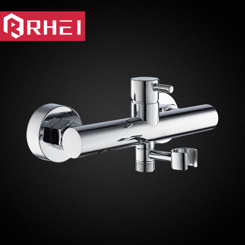 The cold hot water mixing valve copper bathroom water heater shower shower shower faucet set angle valve