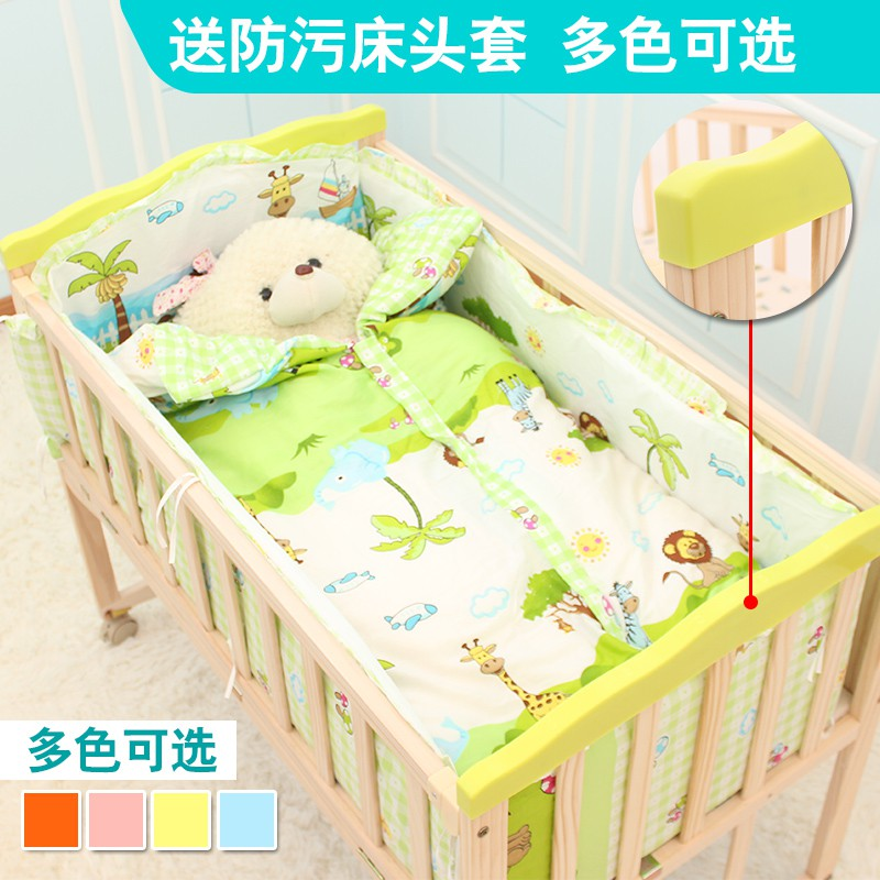 Crib / child bed, universal wheel, child bed, elevated bed, cradle bed, bed board, children, children, good children