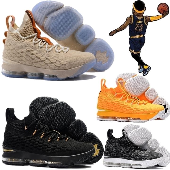 新款詹姆斯15代气垫篮球鞋詹皇黑银香槟13战靴14冬季高帮男鞋女鞋