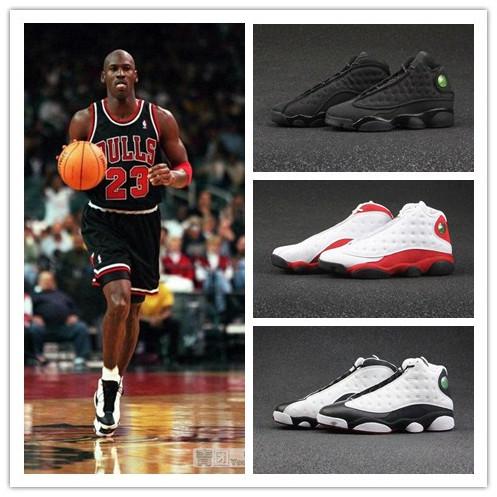 AJ13篮球鞋爱与尊重熊猫黑猫男鞋乔13芝加哥黑红女鞋低帮黄蜂白银