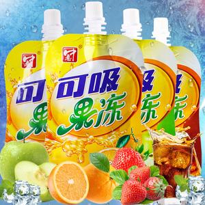 中意可吸的吸吸魔芋果冻8支袋装果汁饮料多口味女生宝宝休闲零食