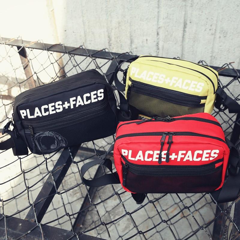 韩版时尚男女单肩包潮牌情侣背包嘻哈帆布邮差包休闲骑行包斜挎包