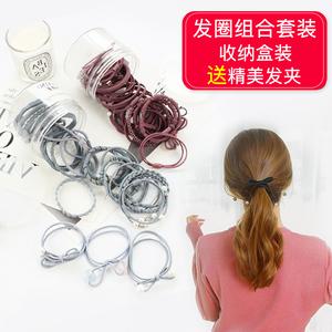 韩国头绳皮筋成人百搭小清新发绳橡皮筋发带头饰头箍发饰发圈发绳