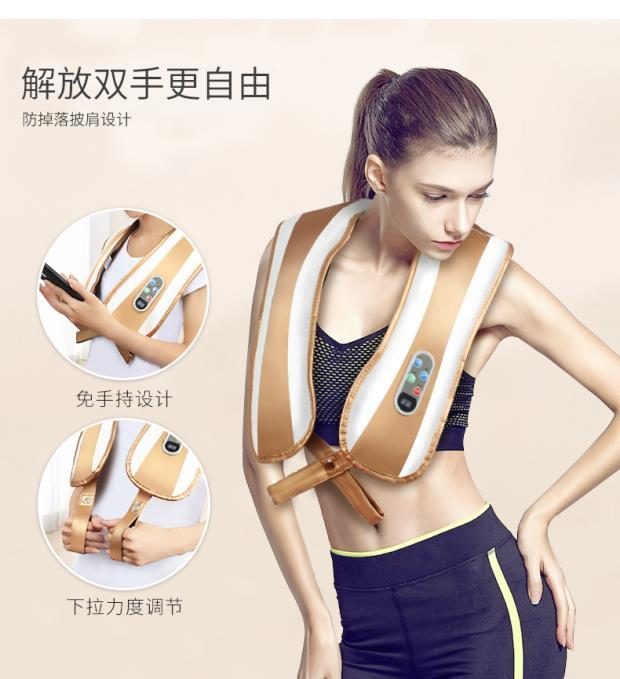 Shoulder massage kneading shoulder neck shoulder waist abdominal cervical vertebra massager systemic LE neck