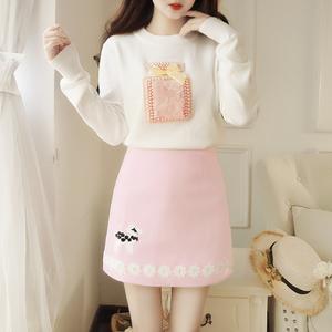 8392全店實拍 現貨 毛衣短裙套裝半身裙兩件套 超好質量
