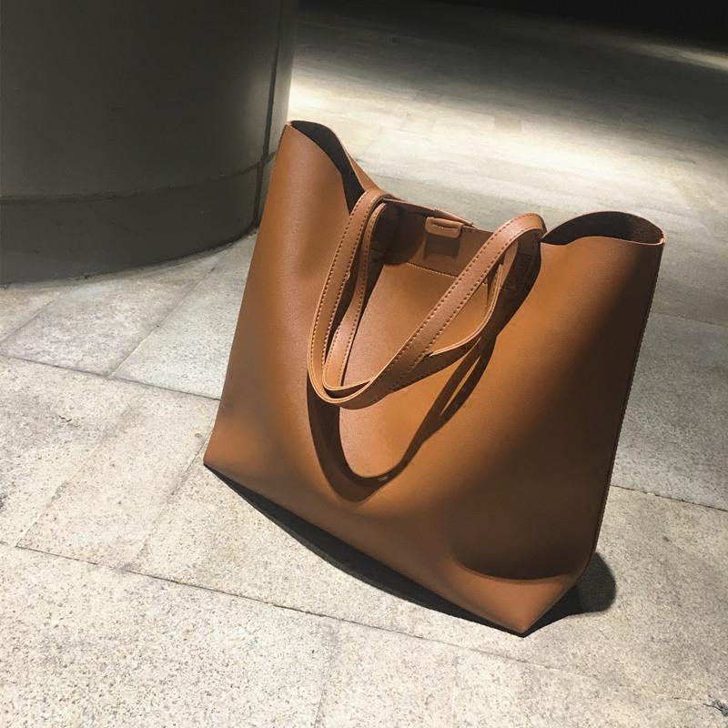 2016新款简约百搭女包托特包手提包单肩包大包时尚大容量复古包包