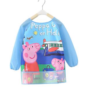 儿童罩衣防水反穿衣宝宝婴儿吃饭衣围兜画画衣幼儿园儿童围裙秋冬