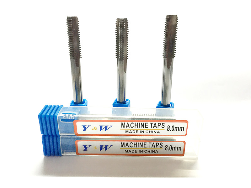 Kappa direct solid carbide tungsten steel machine taps ultra hard wire tapping screw tap straight groove