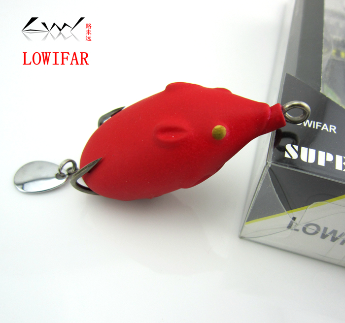 Genuine LOWIFAR double frog frog frog snakehead halleluyah Sequin bait frog 5.5CM/11g mouse