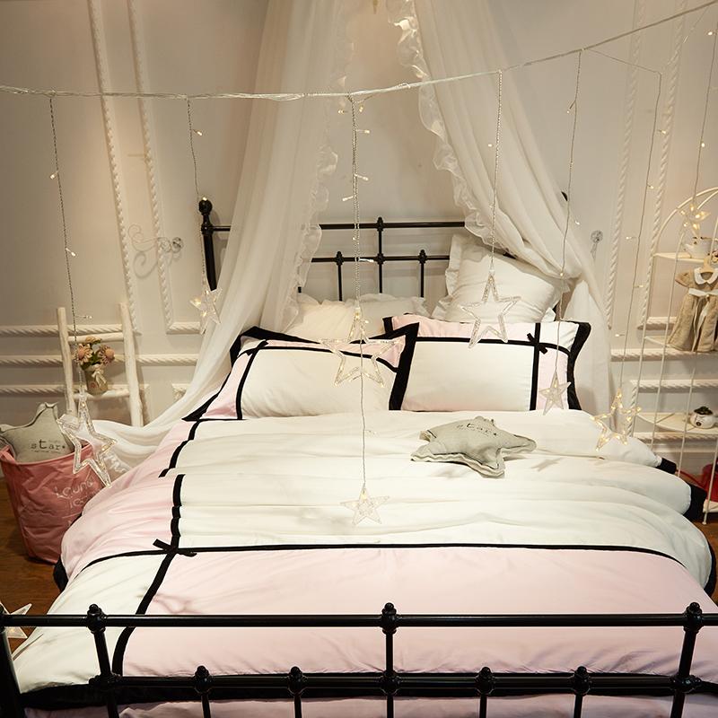 Linda, La Ragazza di cotone di velluto nastro coreano La principessa una serie di Quattro Pezzi di 1.8m1.5 letto 60 lenzuola di Raso