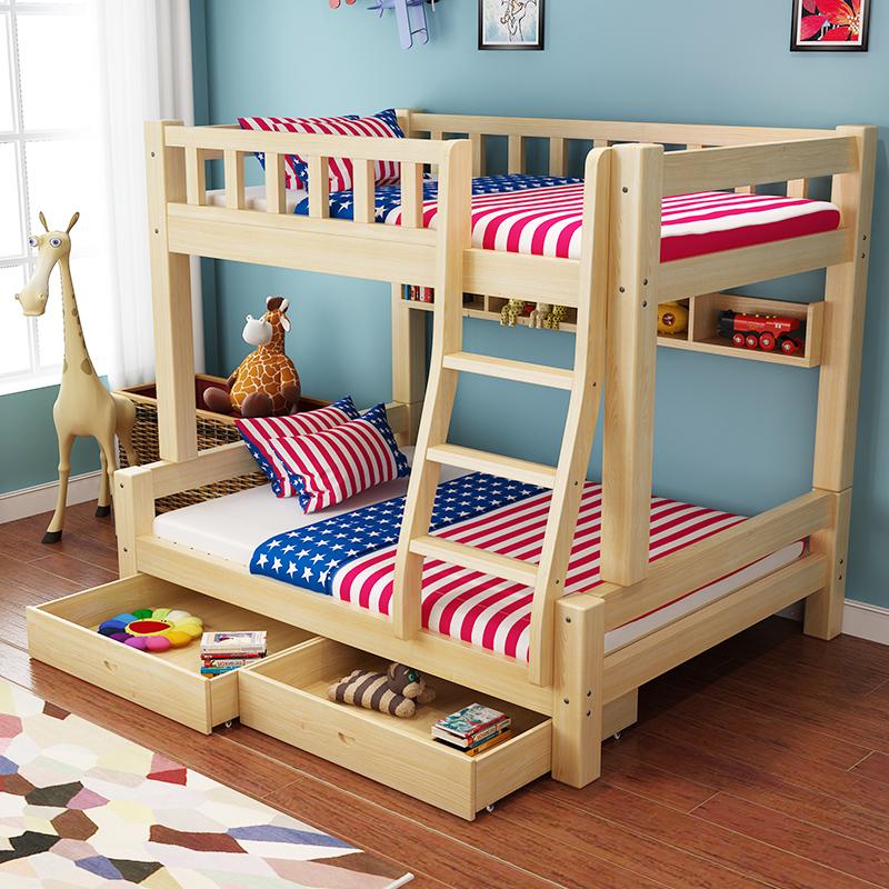 Alle Holz - kinder im Bett der Mutter im Bett und aus dem Bett 松木子 im Bett der Mutter - Tochter - Bett etagenbetten Kartel Bett