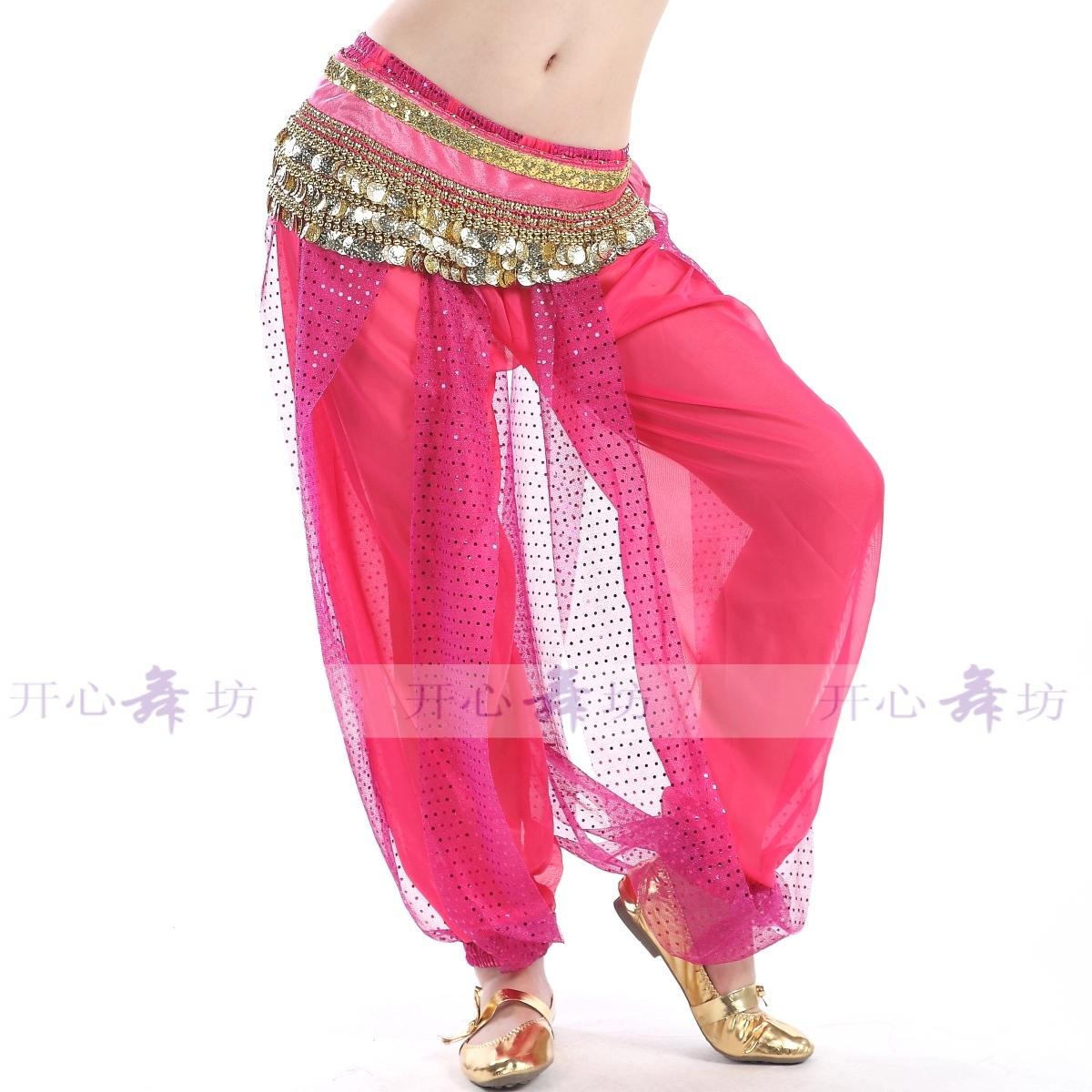 白色均碼肚皮舞下裝褲子 練習服裝 印度舞服裝 亮點燈籠褲 練習褲