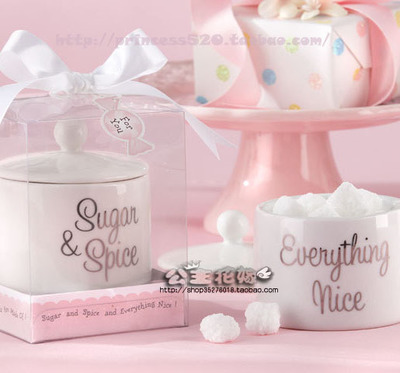 Wedding Gift export creative and practical wedding supplies a gift a sweet ceramic candy jar