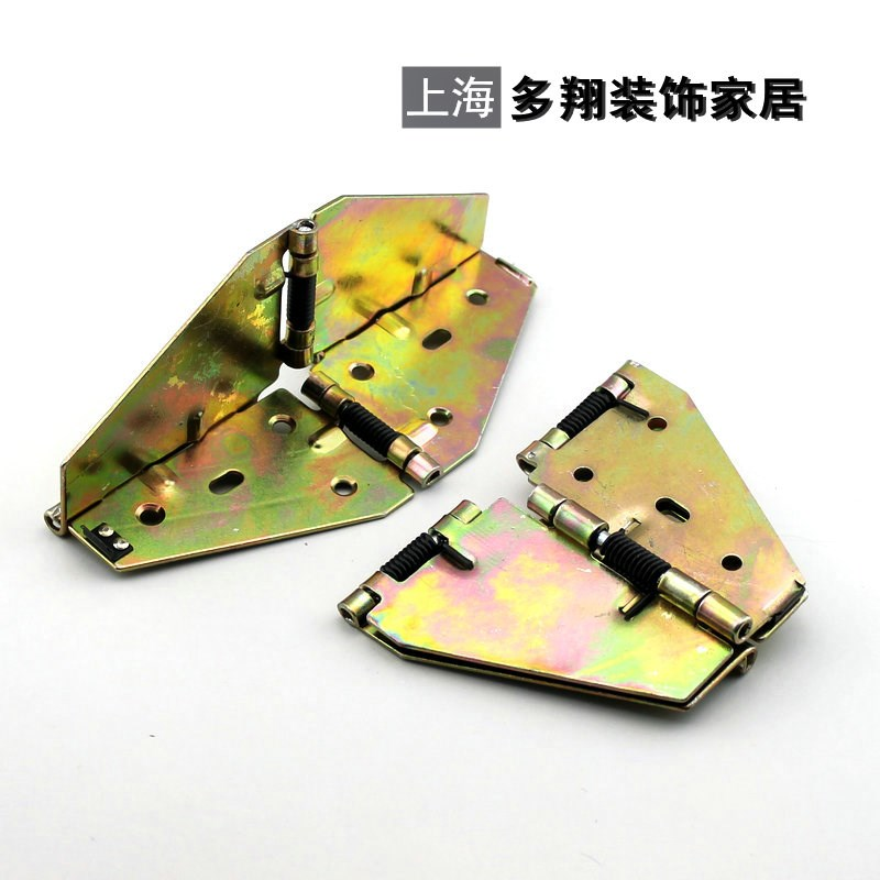Spring cross hinge, dining table hinge, hinge plate, folding table, butterfly trumpet [thickening plate]