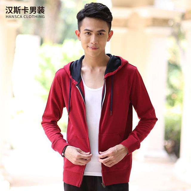 Spring and Autumn Edition Hns Hanska pure hoodies. Male students loose cardigan jacket tide