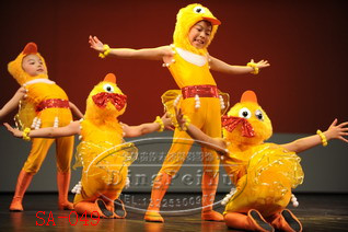 黃色100cm新款六一兒童表演服可愛小鴨子演出服裝.服飾 動物衣服丑小鴨