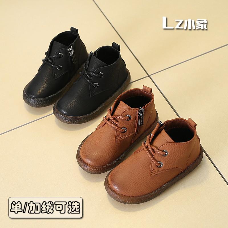 男童皮鞋冬季宝宝短靴