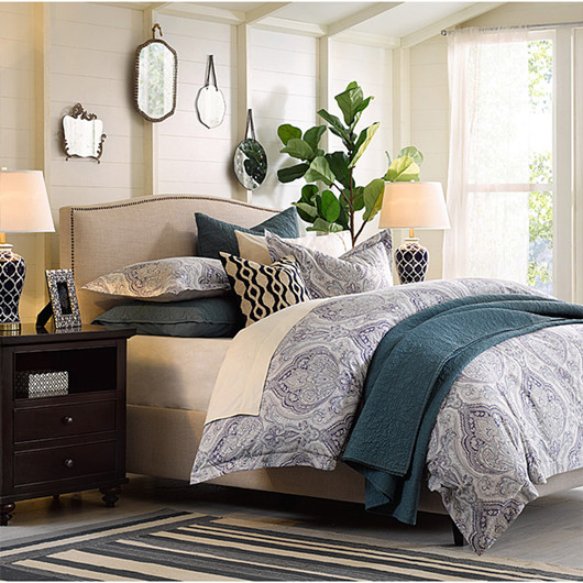The modern American bed bed bed linen cloth the large-sized apartment 1.8 meters double bed bed fashion fabric