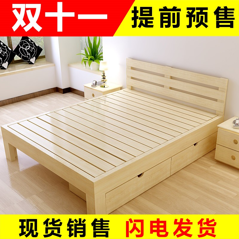 The bamboo bed double bed single bed nap 1 simple lunch bed 1.2 Tuochuang