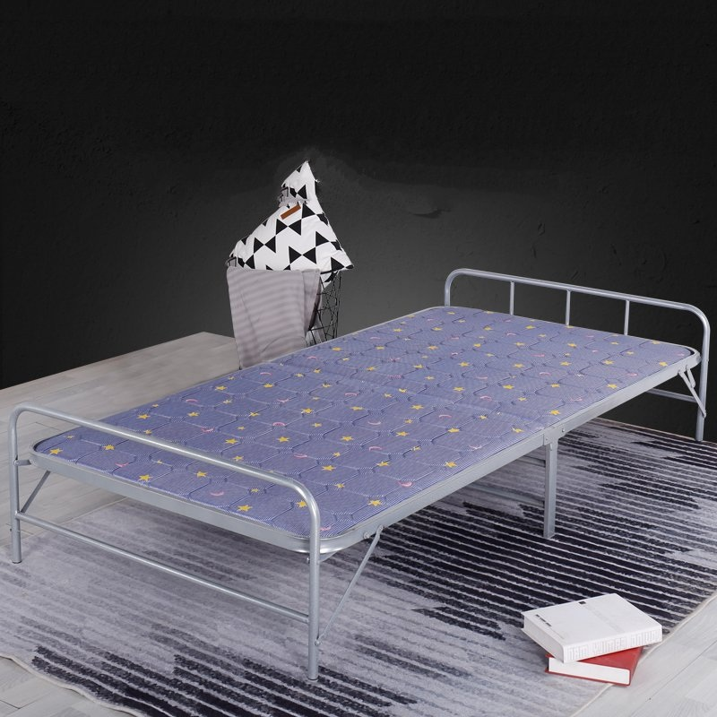Portable folding and folding sleeping bed for children, simple and durable portable sleeping children folding bed, widened rest frame, light folding