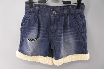 女牛仔短裤 秋季弹力A字阔腿短裤高腰休闲显瘦短裤修身