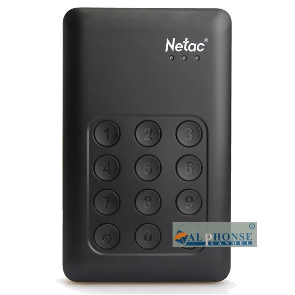Netac le matériel de chiffrement de disque numérique à grande vitesse usb3.0 2tb clé de cryptage du mot de passe de disque dur mobile 2T