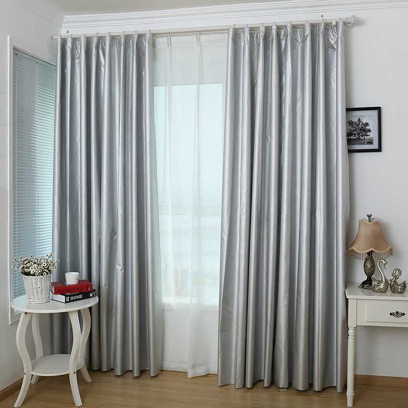 Cortinas de tela gruesa de aislamiento térmico, ruido solar dormitorios sala Balcón poner cortinas de la cortina parasol