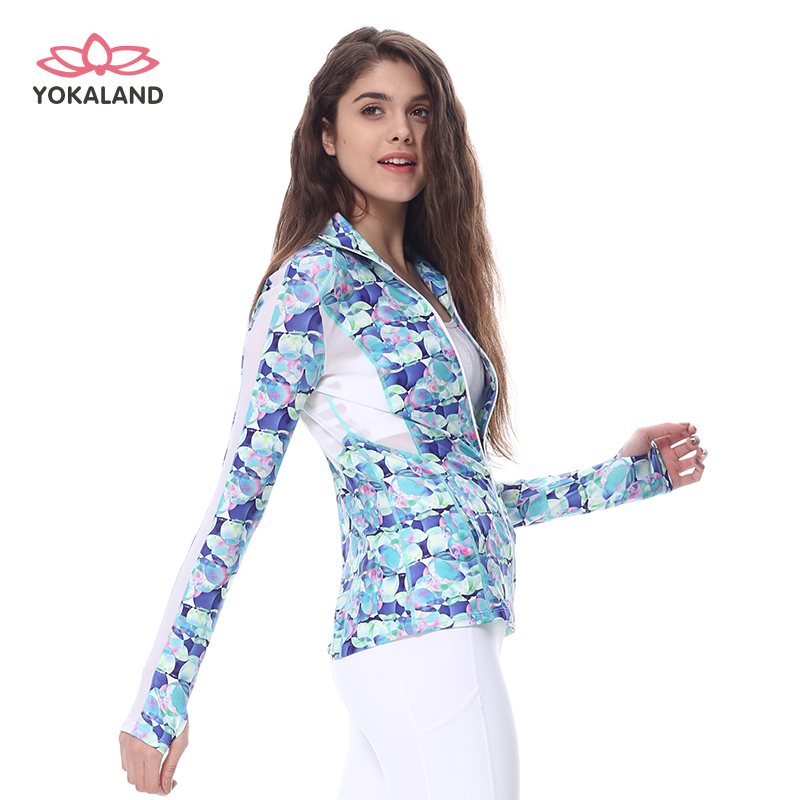 OJW001 Yoga gloves clothing fitness sport coat breathable printing