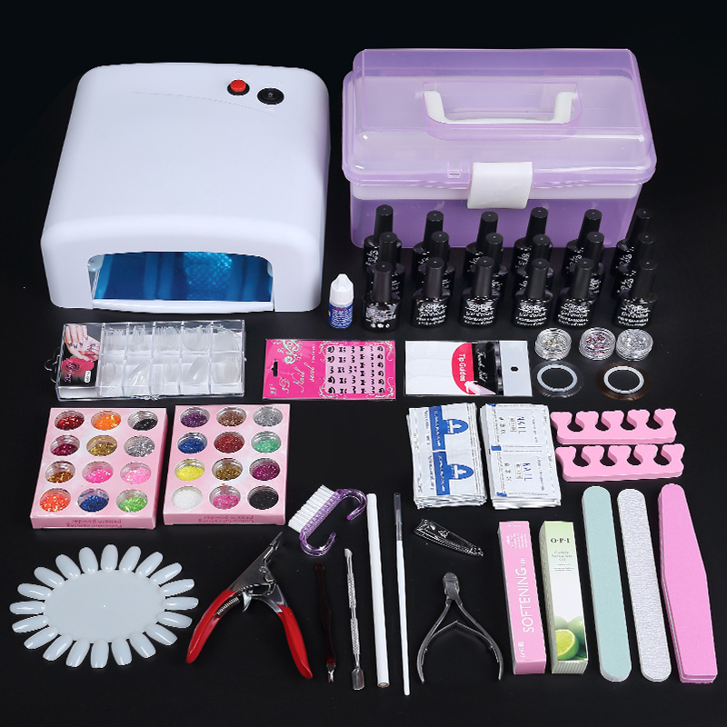 Manicure Kit, brush set, mink hair brush, engraved crystal, phototherapy pen, draw pen, painting pen, mail