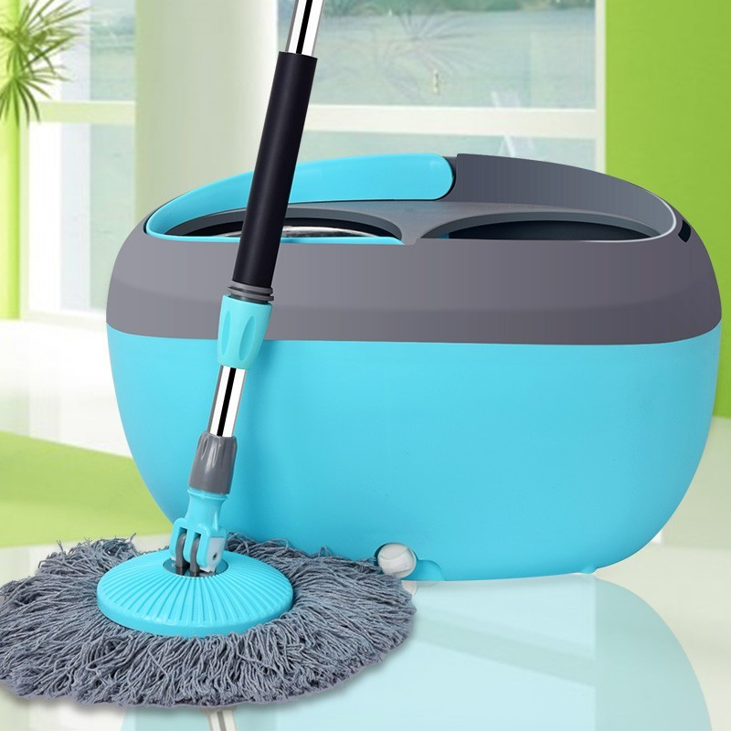 Popular rotary rotary mop mop bucket thickened double drive stainless steel mop bucket miaojie good daughter-in-law mopping the floor