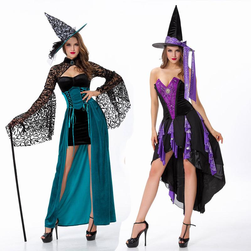 綠色款萬圣節服裝女巫女王制服誘惑cospaly公主裙舞女女王派對裝狂歡節