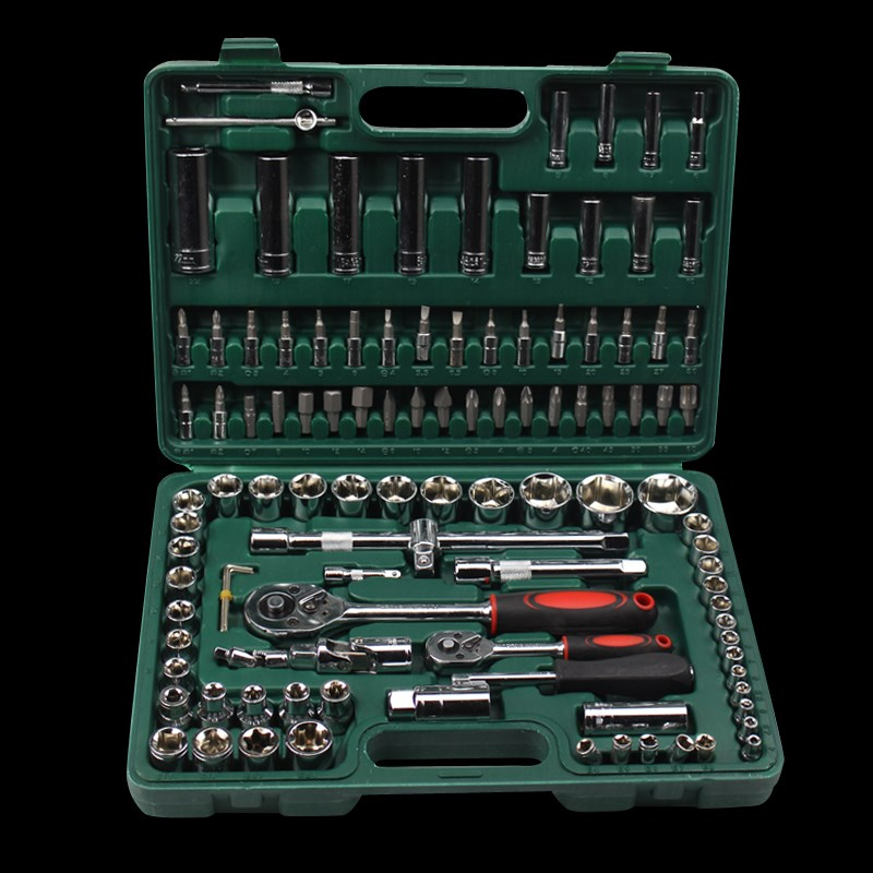 National package of 108 pieces of socket wrench tool, car repair tool combination car repair hardware toolbox set