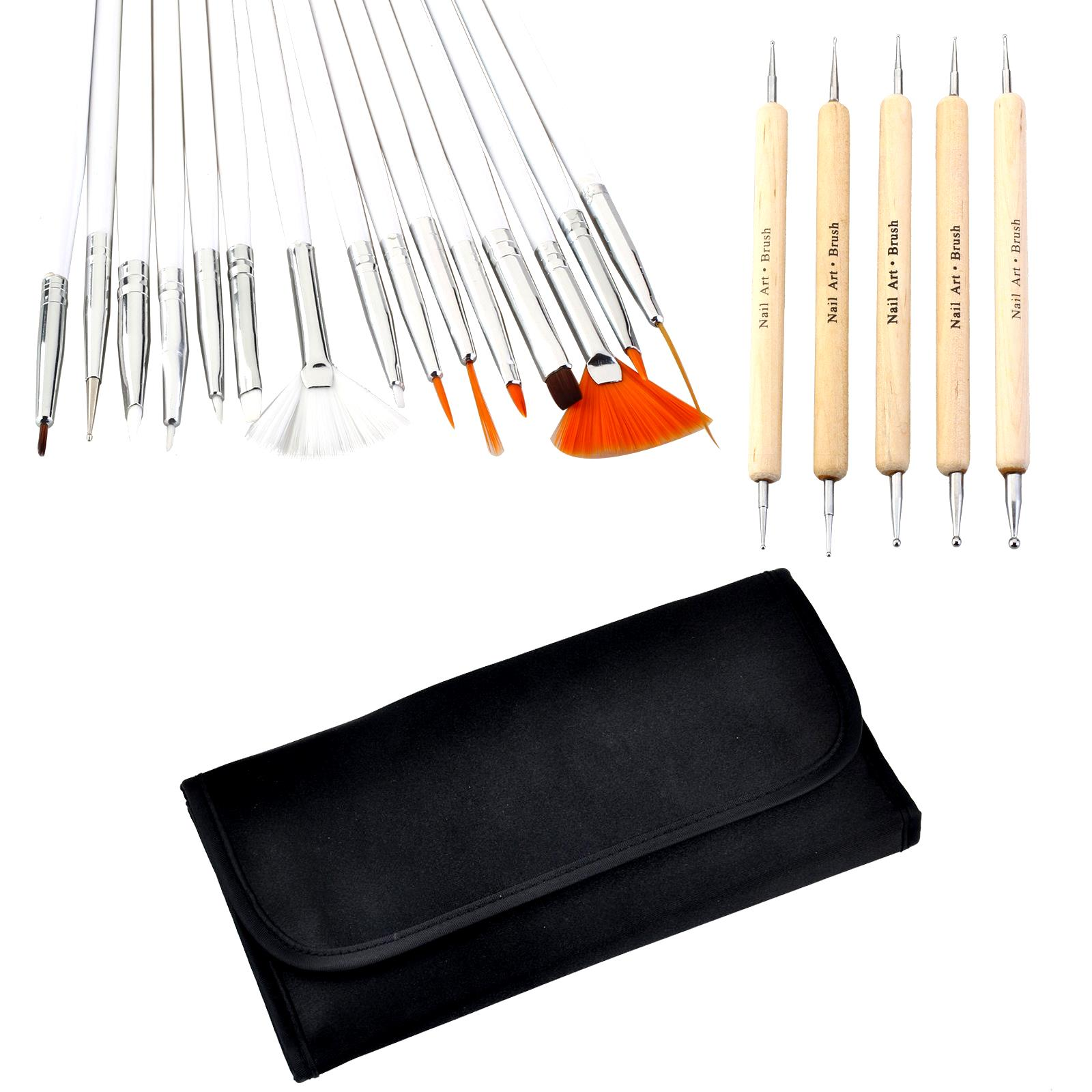 Pull nail kit phototherapy hook flower drill 20 a full set of Manicure beginners pen brush painting gradient