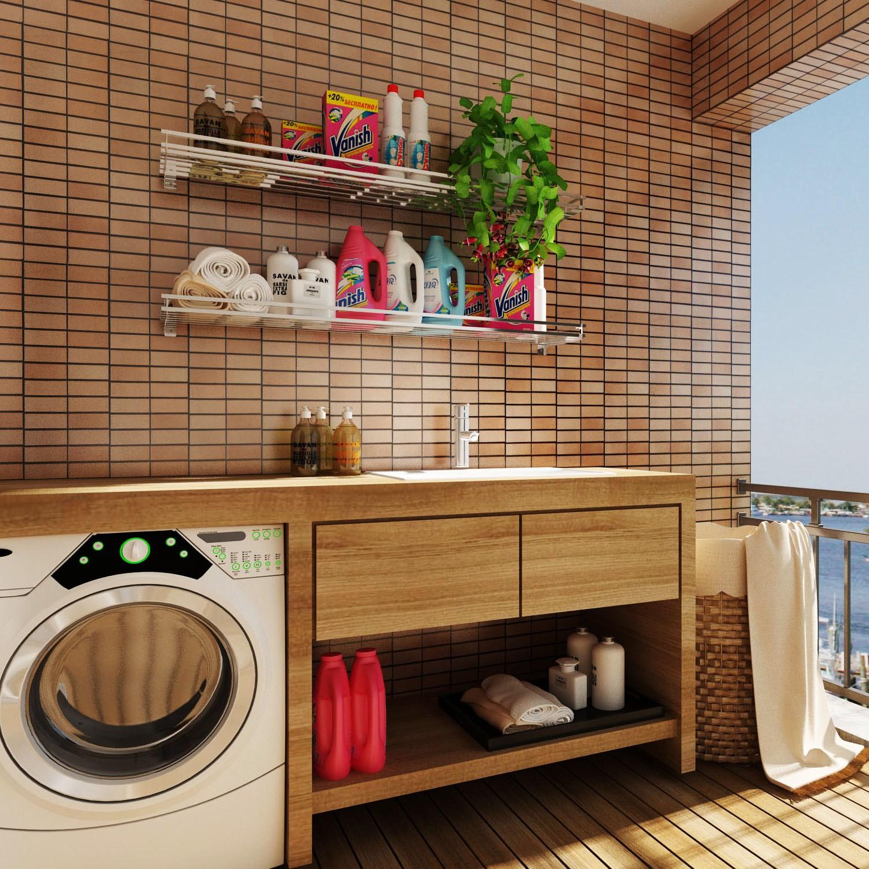 Custom made stainless steel wall hanging washing machine shelf, toilet storage rack, iron storage rack, balcony flower rack