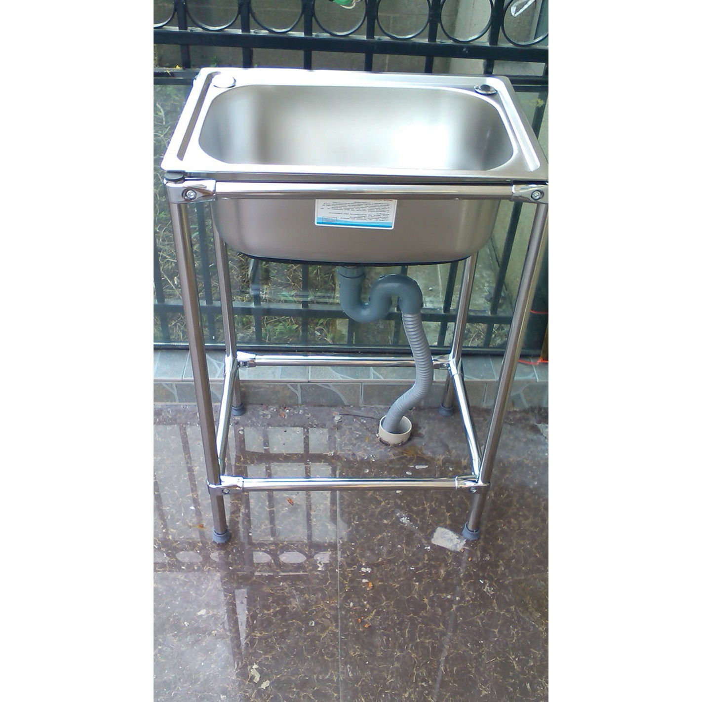 Thickening integral forming stainless steel single groove sink, double trough with custom landing bracket, washing dish basin