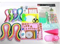 衍紙ツールセット手作り材料児童カラー福袋折り紙色紙色豊かな絵