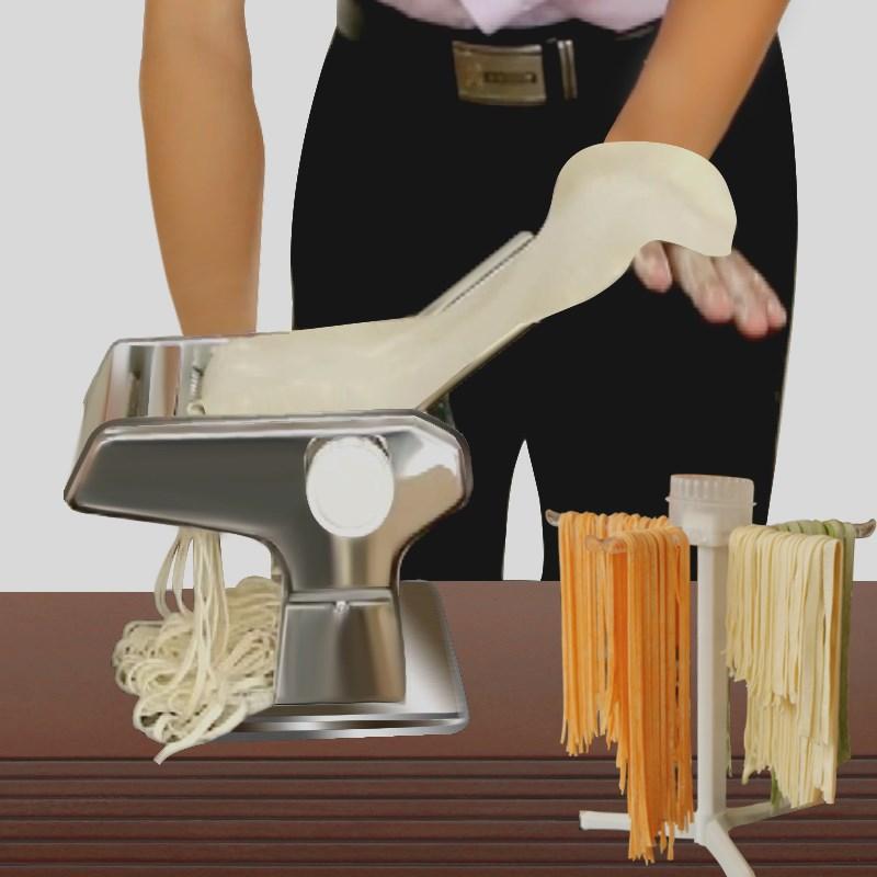 La Máquina eléctrica pequeña automático mini manual manual de acero inoxidable de fideos dumpling Rolling ravioles de presión de uso doméstico
