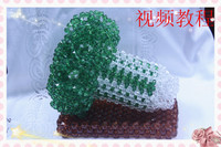 DIY imitation crystal beads Beaded handicraft weaving Chinese cabbage materials (gold) material package seaweed / product