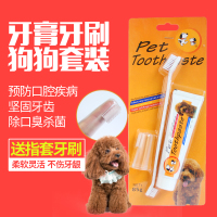 Pet oral cleaning brush dog, Teddy golden retriever, panda tooth removal toothpaste, toothbrush set to remove dental calculus
