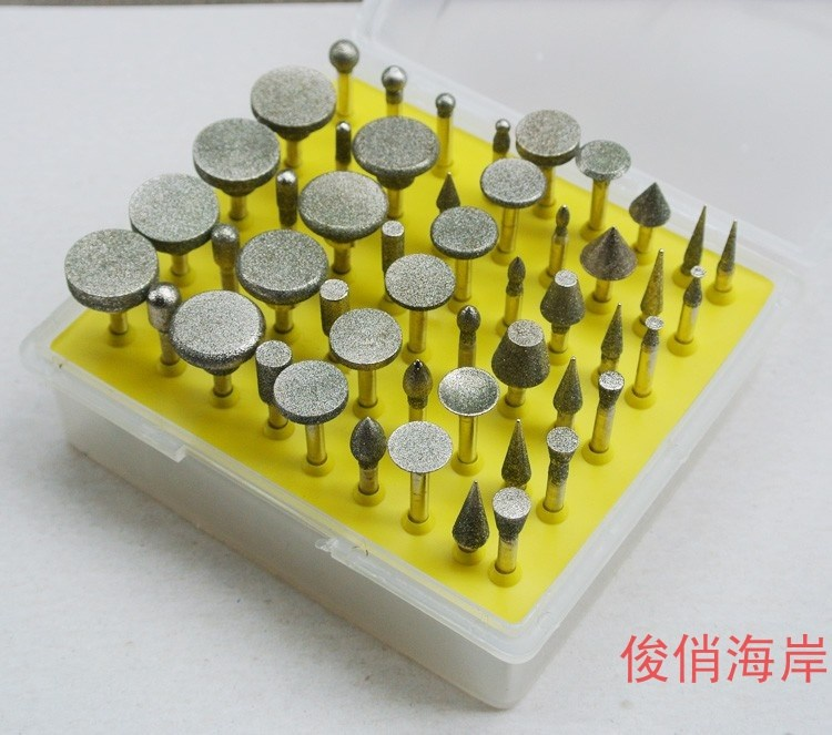 Just gold alloy sand jade stone stone peeled head support installed jade carving machine grinding head polishing needle Fei