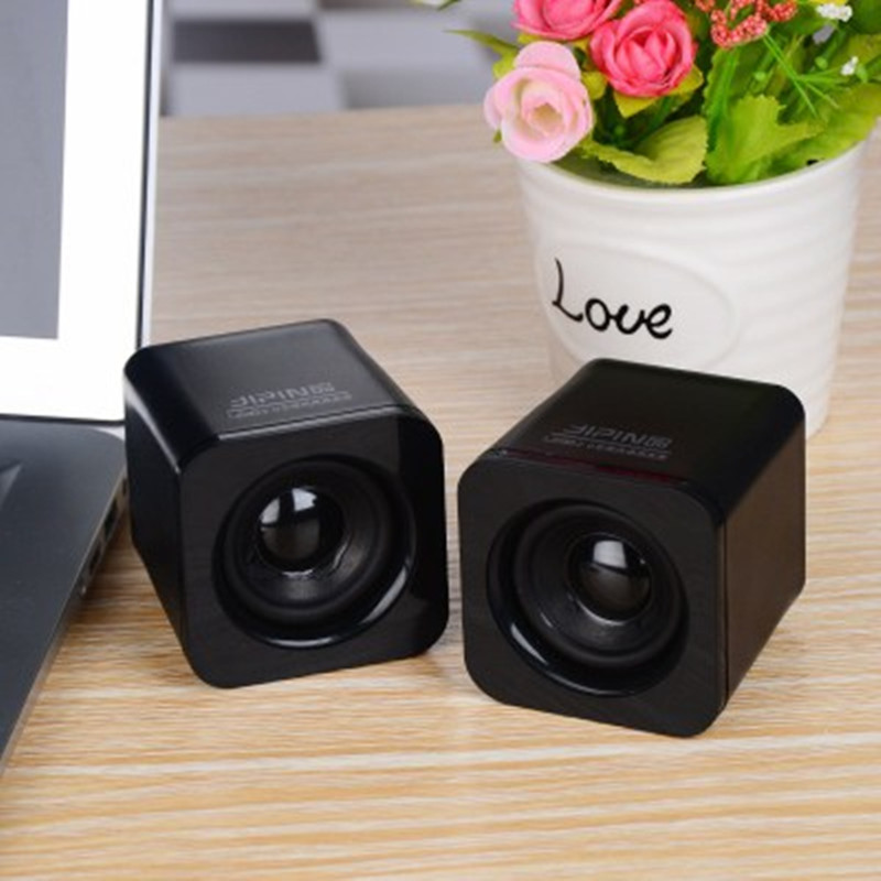 Notebook small horn desktop computer mobile phone Bluetooth card audio mini sound box 2.1 subwoofer