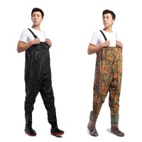 Pant conjoined fishing pants waterproof clothes conjoined water rain pants leather fishing fishing fork pants waterproof work clothes