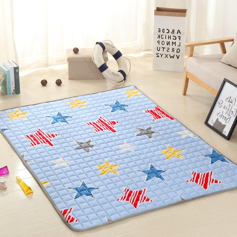 Cotton pad washable folding tatami children household environmental protection mattress pad thickening crawling game blanket