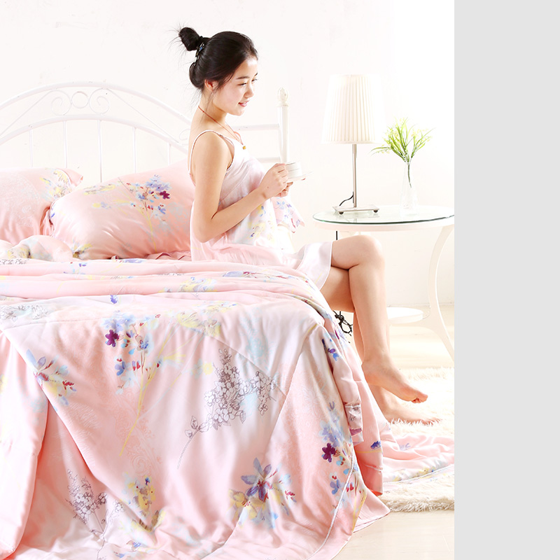 Brand textile 60 Tencel 100% double-sided silk four piece genuine wedding gift bedding