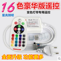 Lamp with LED remote control, high voltage colorful lamp with controller, seven color lamp with remote controller, 220V colorful lamp belt
