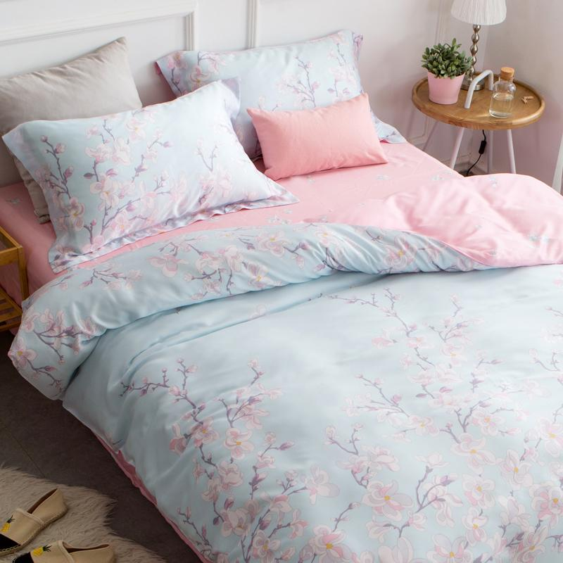 Four sets of 40s double Tencel bed linen sheets Tencel summer bedding European 1.8m bed 1.5