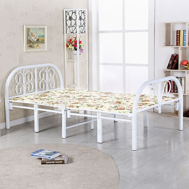Folding bed, single double bed, adult child bed, wooden bed, simple bed, lunch bed, office lunch bed