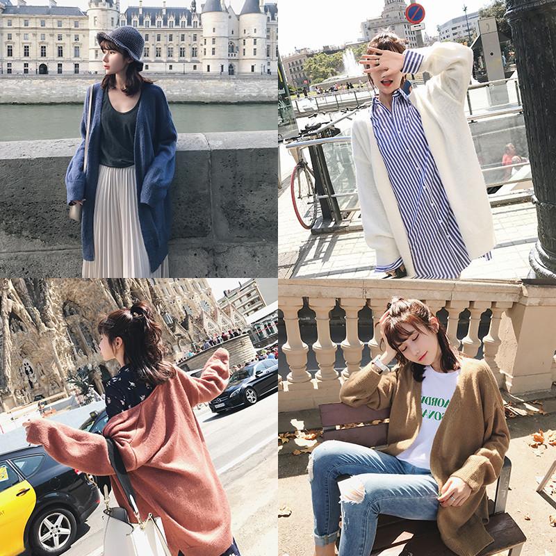 daikin 2017. őszi 韩版 otthon. bő egy vékony) során jelentős hosszú vékony boomer kötött cardigan (női
