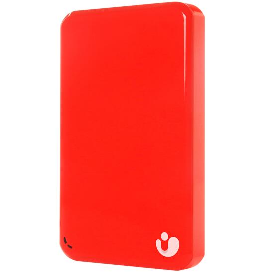 Abby Gert (iBIGStor) de 2,5 pouces terabyte de disque dur mobile sans fil (flamme rouge)
